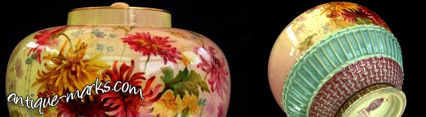Royal Worcester Prismatic Enamels vase dating to circa 1888
