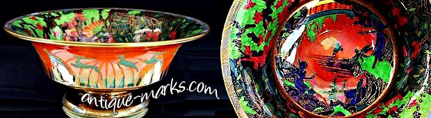 Art Deco Wedgwood Fairyland lustre bowl